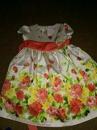 girl's white and green floral sleeveless dress Palm Springs, 92262