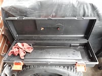 gray metal tool case