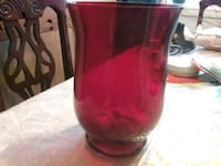 red and clear glass vase Brampton, L6S