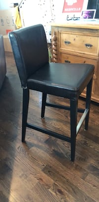 Set of 3 Leather Barstools from IKEA. They are bar height. One has a leg that needs to be screwed in but is still functional. Black Leather top but also works with ikea covers   Nashville, 37204