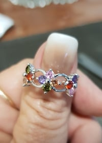Silver Filled Ring with Semi-precious Stones Sz 7 Greenville, 29617