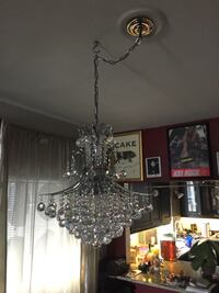 "Crystal and Chrome Chandelier 22""d x 26""h ... I'm looking to get around $400 but the Price is negotiable (within reason) trades welcome (ps4) Denver, 80211"