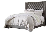 Upholstered Bed Frame with Crystal Accent Stafford, 22554
