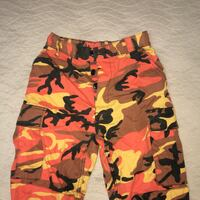 Red, black, and yellow camouflage pants Toronto, M1W 2G1
