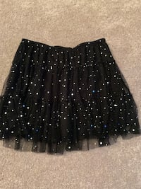 Black Sequined Justice Skirt, Size 12 , 90732
