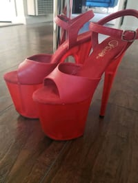 "Red 8"" Pleaser shoes size 7 Long Beach, 90804"