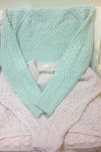 Lacey knit sweaters