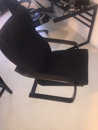 black leather padded rolling armchair Toronto, M6A 2G4
