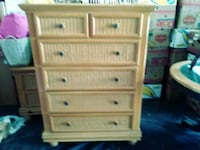 brown wooden 5-drawer chest Longwood, 32750