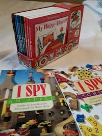 Richard Scary 8 book set, 2 level 1 I Spy books Delta, V4M 3V6
