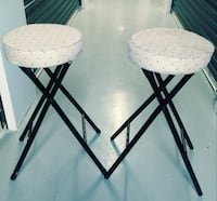 Pair of cushioned stools with nice pattern Duluth