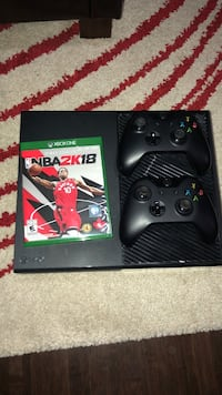 Black xbox one console with 2 controllers and NBA 2k18 Dartmouth, B3A 3V3