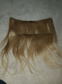 two blonde hair extensions