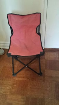Toddler red fold up camping chair