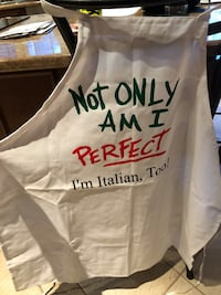 white Not only an i perfect print apron