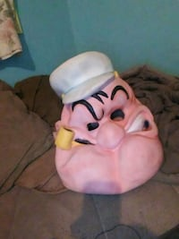 Popeye rubber mask good condition