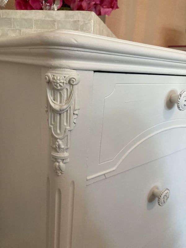 Newly Refinished Solid Wood 3 Drawer Dresser - White ee08a28e-c9a0-4f15-862c-f842fd00eb4e