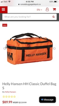 Helly Hansen Orange Duffel Bag Mississauga, L5N 4L7