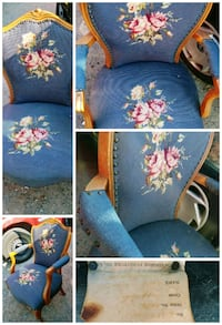 Canadian made stitched blue chair Richmond, V7B 0A4