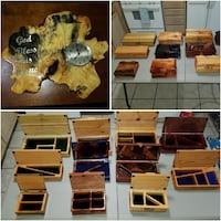 brown wooden boxes