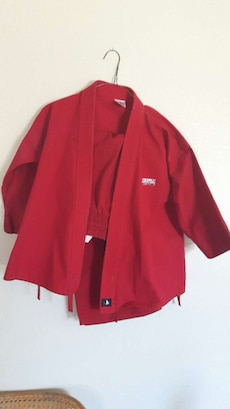 red jacket suit