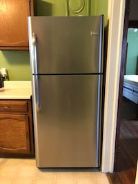 stainless steel top-mount refrigerator