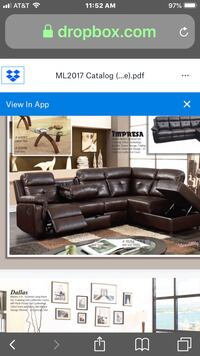 black leather sectional sofa screenshot Great Neck, 11023