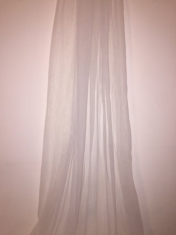 Off White or Ivory - New without tags Cathedral Length Plain Edge Veil with comb - you can customize it and add your own edge design a72345c1-2c4e-4a3f-af02-098fb23de328