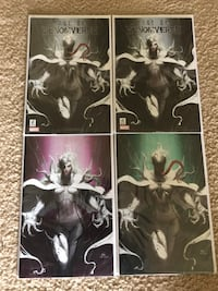EDGE OF VENOMVERSE 1 INHYUK LEE VENOM WHITE QUEEN VIRGIN BUNDLE VARIANT 4-PACK Laurel, 20724