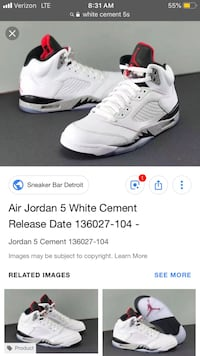 white Air Jordan basketball shoes screenshot El Paso, 79938
