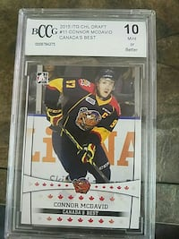 BCCG 2015 #11 Connor McDavid trading card Red Deer, T4R 1T7