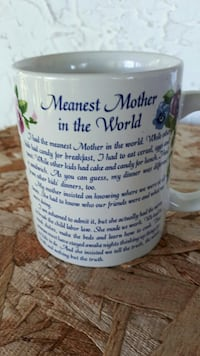 Meanest Mother in the world ceramic mug