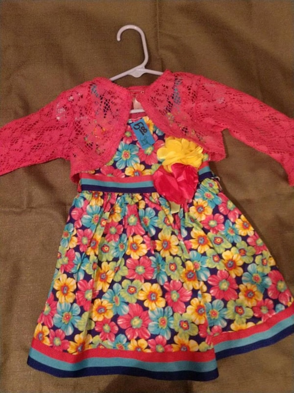 d9e9bd1ea83 Used Toddler girls dress with lace jacket 24 months for sale in St. Louis -  letgo