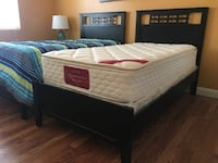 Black wooden twin size bed with pillow top mattress Las Vegas, 89117