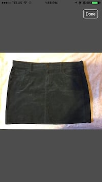 Navy blue and brown corduroy skirt with pockets on the back. Calgary, T3G 4R8