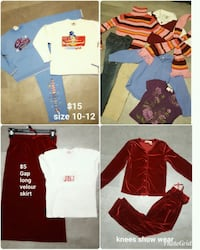 Young girls size 10-12 Roy