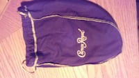 purple Crown Royale drawstring bag