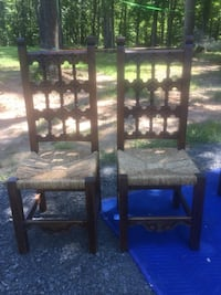 Two Wooden Carved Chairs Warrenton, 20186