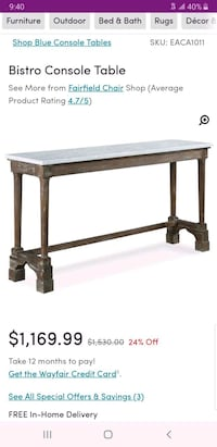 brown wooden table with drawer Union, 07083