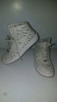 pair of white high-top sneakers Calgary