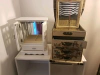 white and brown wooden dresser with mirror Falls Church