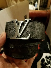 black and gray Louis Vuitton leather belt Los Angeles, 91402