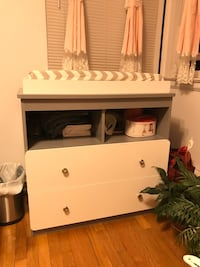 Diaper changing table with pad and cover