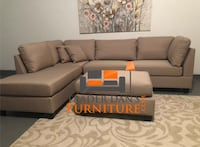 Brand new sand linen sectional sofa with ottoman  Silver Spring, 20902
