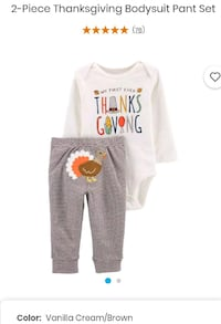 Carter's My 1st Thanksgiving 2 piece Set 12 Months Alexandria