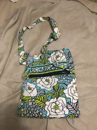 blue, green, and white floral crossbody bag Sparta, 38583