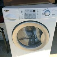 white and gray front-load washing machine Raleigh, 27603