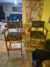 Two high back pool table chairs Newark, 19702