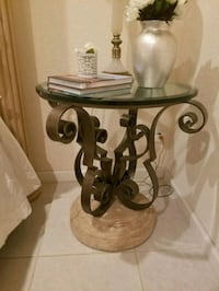 Stone and rod iron table Miramar