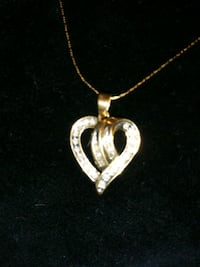 """10k Stamped yellow gold """"Locked hearts"""" necklace Niles, 49120"""